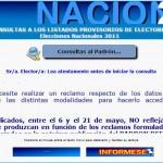 Padrón 2011: Consulte los datos provisorios