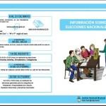 Información sobre las elecciones nacionales 2011