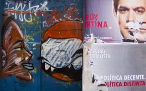 Publicidades en la calle.