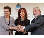 Presidentes de países vecinos felicitaron a Cristina