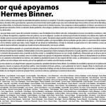 Binner cerrará su campaña con actos en los grandes distritos