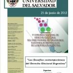 I° Congreso Argentino de Derecho Electoral