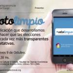 PRESENTCIÓN DE #VOTOLIMPIO