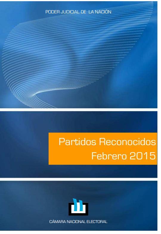 Partidos reconocidos febrero 2015