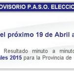 Mendoza: Resultado minuto a minuto. Candidatos. Padrón.