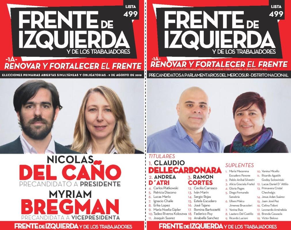 """Pre candidato a Presidente Nicolás del Caño por la lista """"Renovar y fortalecer"""" del PTS"""