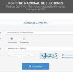 ¡Ya está disponible el #Padrón para las #Elecciones2015!