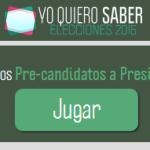 Yo quiero saber - El juego interactivo para conocer las propuestas de todos los candidatos