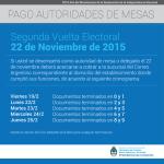 Cobro de Autoridades de Mesa elecciones 2015