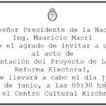 El Gobierno Nacional presenta su proyecto de Reforma Electoral