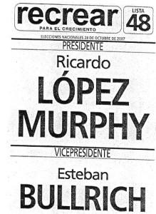 Boleta Lopez Murphy 2007
