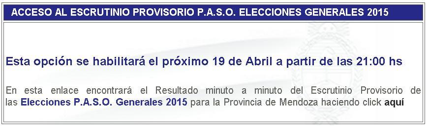 Resultados Mendoza