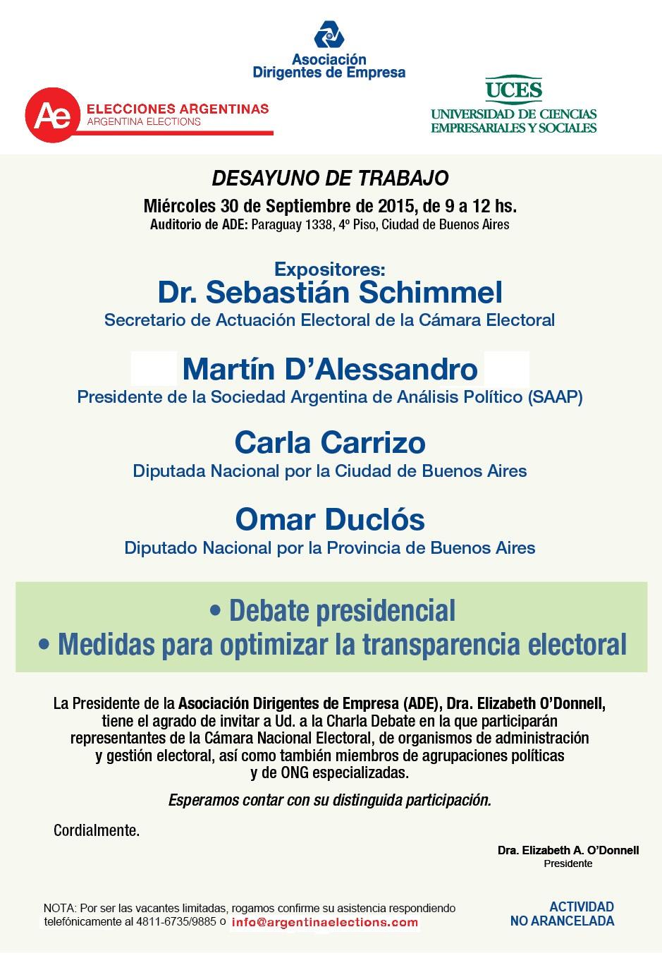 7051 FLYER INVITACION DESAYUNO DE TRABAJO DE ADE CON MIEMBROS DE