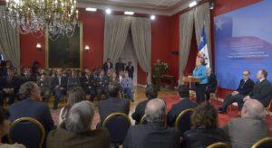Promulgación de la ley de reforma constitucional que brinda autonomía al Servel. Crédito de la foto: Gobierno de Chile