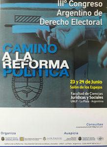 "Afiche del congreso. Foto: cuenta de Twitter ""@3erCADE""."